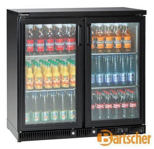 Bartscher Kühlschrank Flaschenkühler 220L 2 Glastüren
