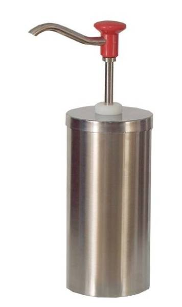 Soßenspender Zylindrischer Edelstahl-Pumpspender 2,25 Liter