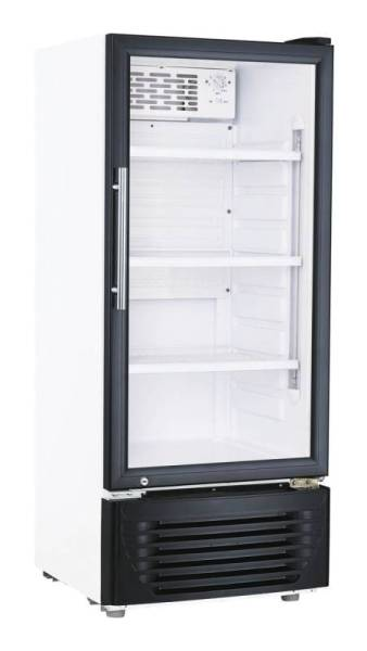 Gastro Kühlschrank Glastür Umluftkühlung 166 Liter