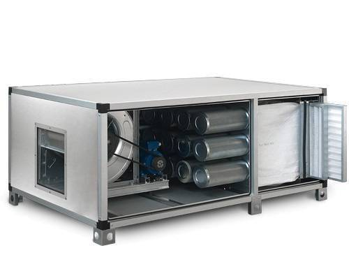 Abluftreinigungsanlage mit Motor Vorfilter Aktivkohlefilter Taschenfilter 5400m³/h