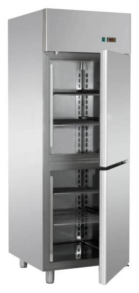 Gastro Fischkühlschrank aus Edelstahl mit 2 Türen 700 Liter