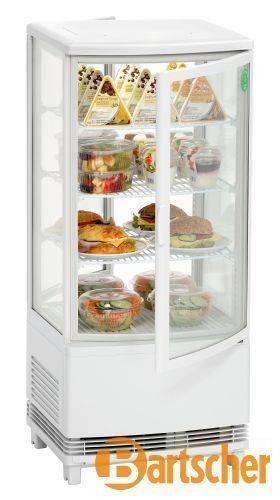 Bartscher Gastro Kühlvitrine 86L Rundum Glas