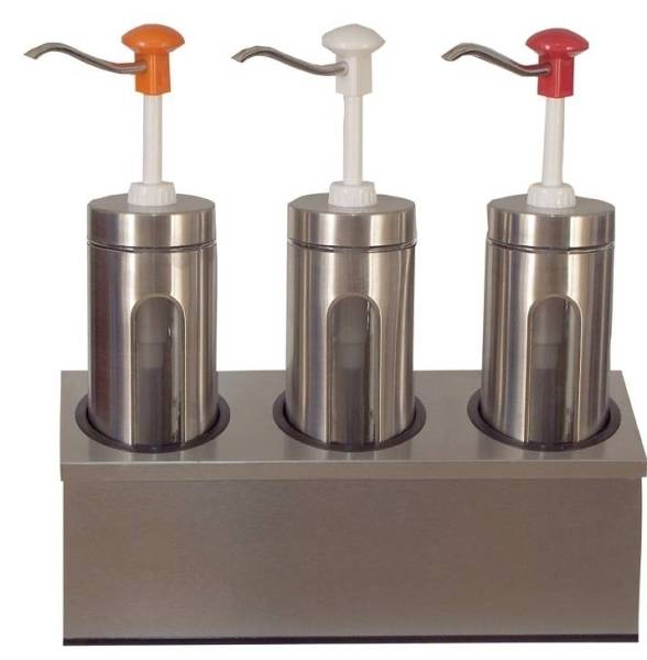 Soßenspender Zylindrischer 3 x 2 Liter