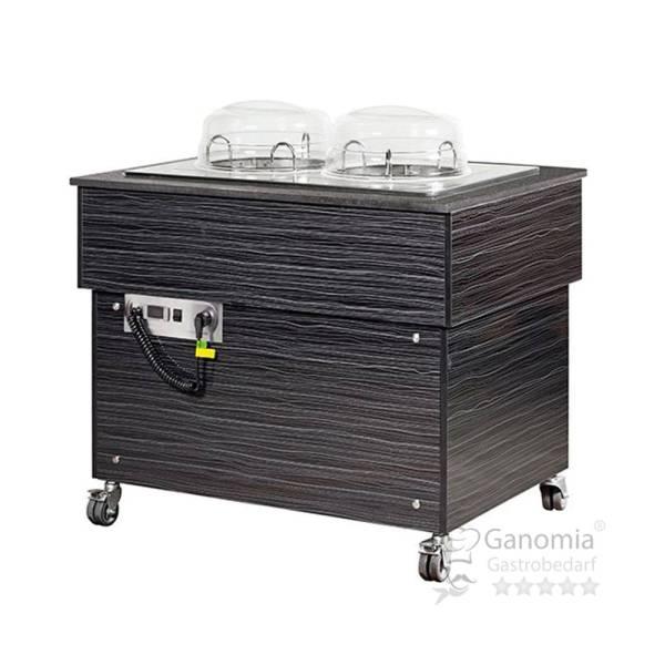 Gastro Buffet Tellerspender 2x50 Teller 1 m