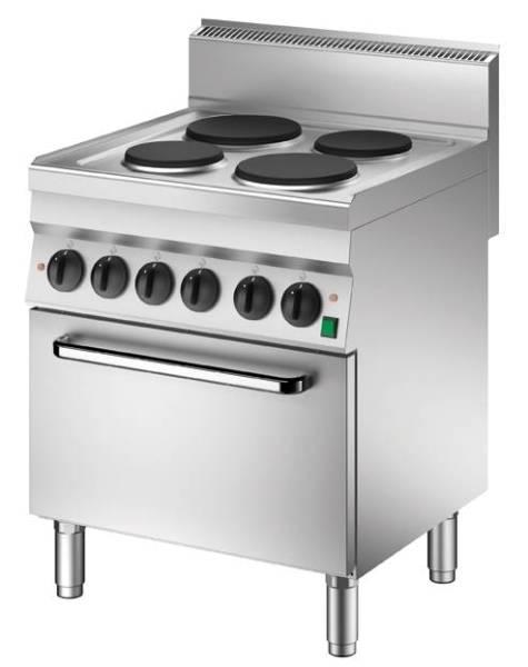 Elektroherd mit 4 Kochstellen Ober- Unterhitze