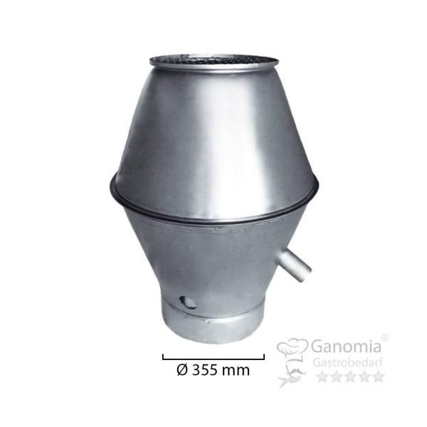 Deflektorhaube rund mit 300 mm Durchmesser und Gitter