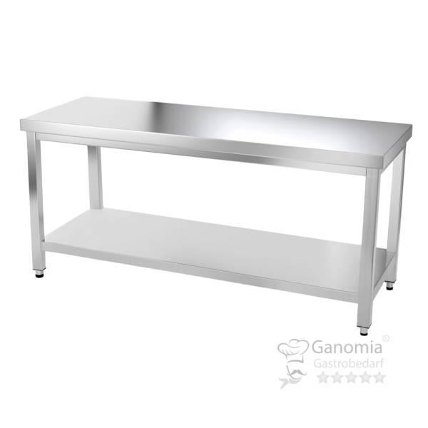 Edelstahl Tisch mit Regal 200 x 60 cm Gastro