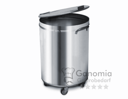 Edelstahl Mülleimer 95 Liter