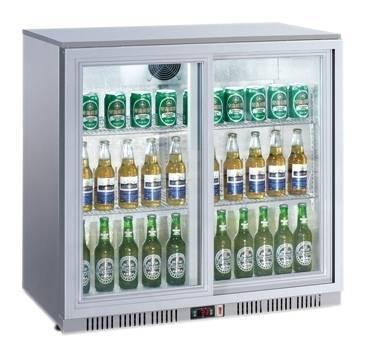 Gastro Flaschenkühler mit 2 Glastüren 208 Liter