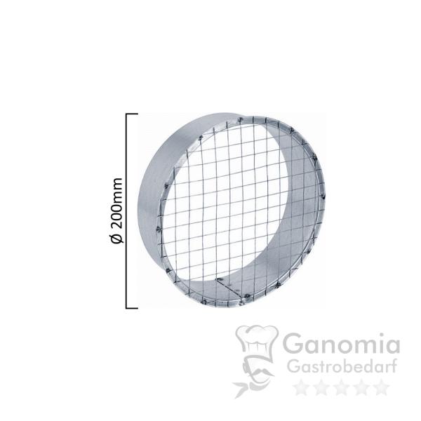 Ausblasstutzen mit Gitter mit 200 mm Durchmesser