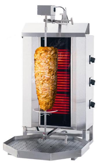 Dönergrill Elektro 3 Brenner Bis 40 Kg Fleisch