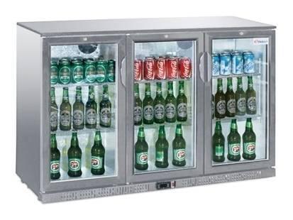 Gastro Flaschenkühler mit 3 Türen 330 Liter