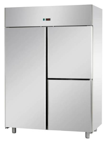 Gastro Fischkühlschrank aus Edelstahl mit 3 Türen 1400 Liter