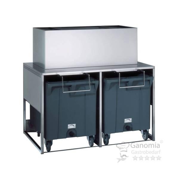 Eiswürfelauffangbehälter 266 kg Edelstahl
