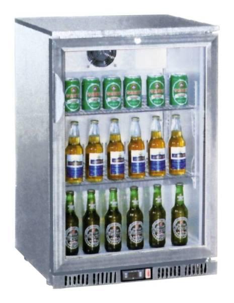 Gastro Flaschenkühler Umluftkühlung mit 1 Glastür 138 Liter