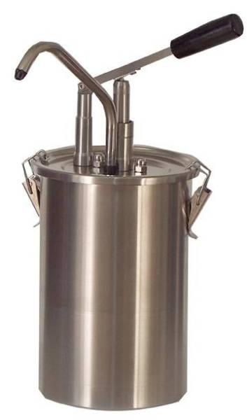 Soßenspender Zylindrischer Edelstahlhebel 2 x 4,5 Liter