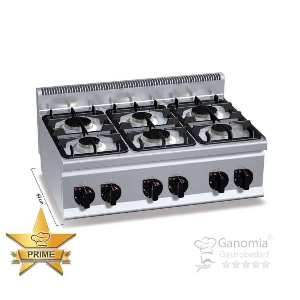 Gasherd Tischgerät 6 Brenner 18,6 kW