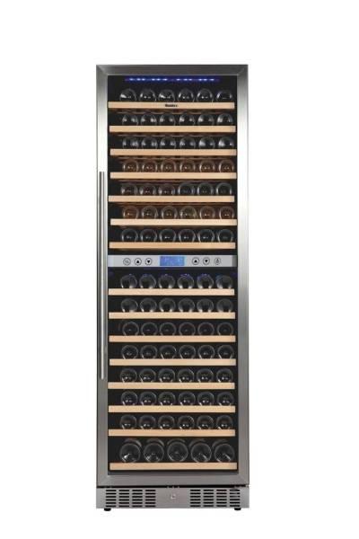 Gastro Weinkühlschrank aus Edelstahl für 160 Flaschen