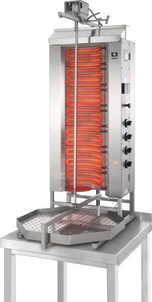 Potis Dönergrill 4 Brenner Elektro bis 80 Kg Fleisch