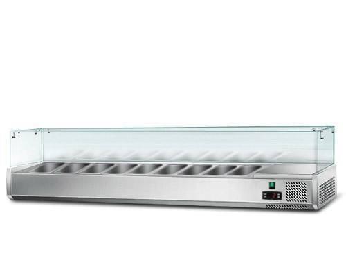 Kühlaufsatz mit Glas 9 x 1/3 GN Behälter