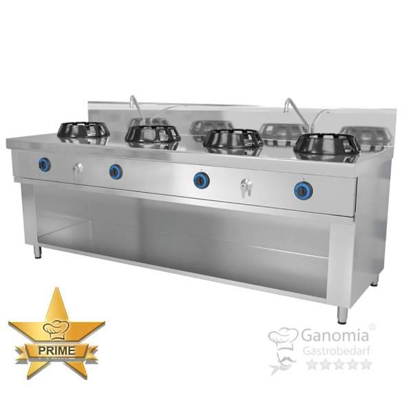 Chinaherd Gas Wok, 4 flammig 4x 14 kW