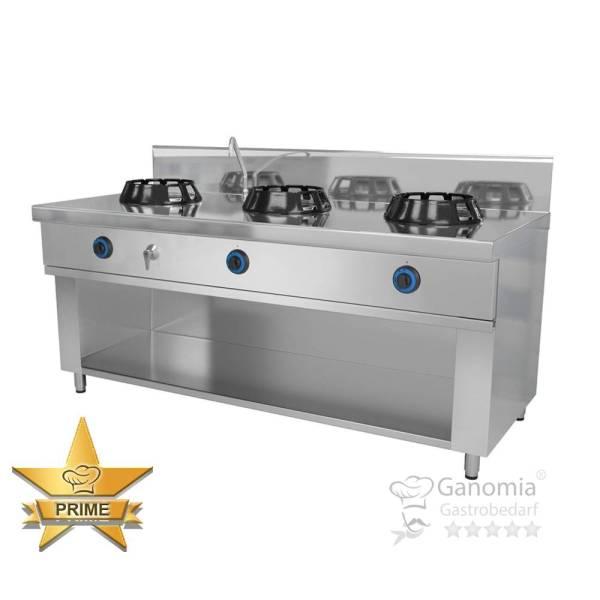 Chinaherd Gas Wok, 3 flammig 3x 14 kW