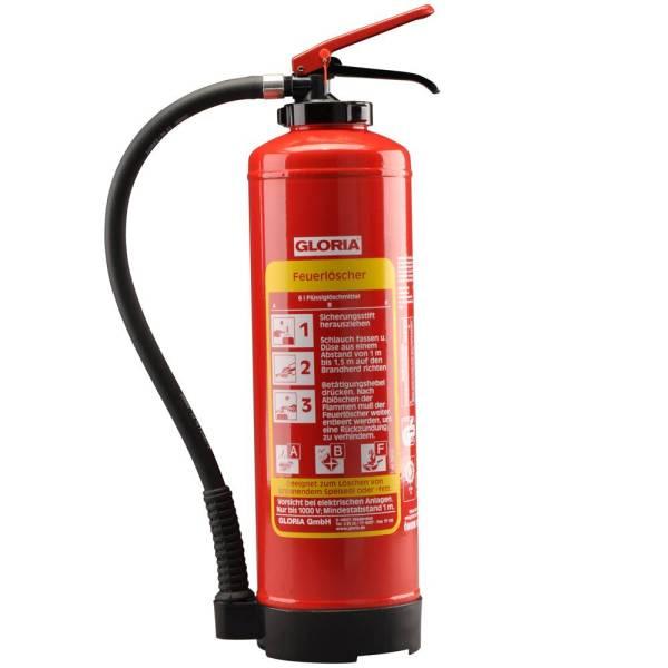 Fettbrandfeuerlöscher Typ FB 6 , DIN EN 3 , inkl. Wandhalterung, 6 Liter