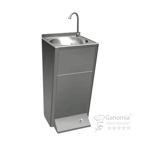 Edelstahl Handwaschausgussbecken mit Fußbedienung 500 x 410 x 1080 mm