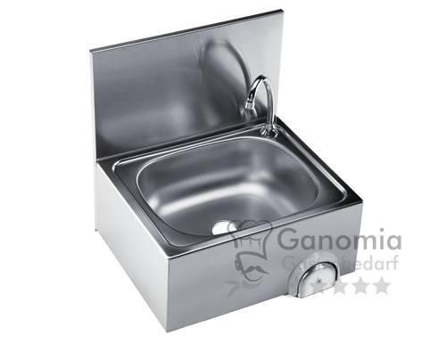 Edelstahl Handwaschbecken mit Mischbatterie 50 x 42 x 52 mm