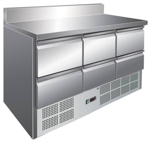 Kühltisch 6 Schubladen 137 x 70 x 97,5 cm