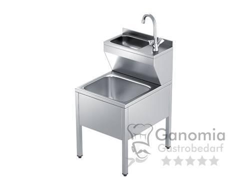 Edelstahl Handwaschausgussbecken mit Mischbatterie 50 x 60 x 85 cm