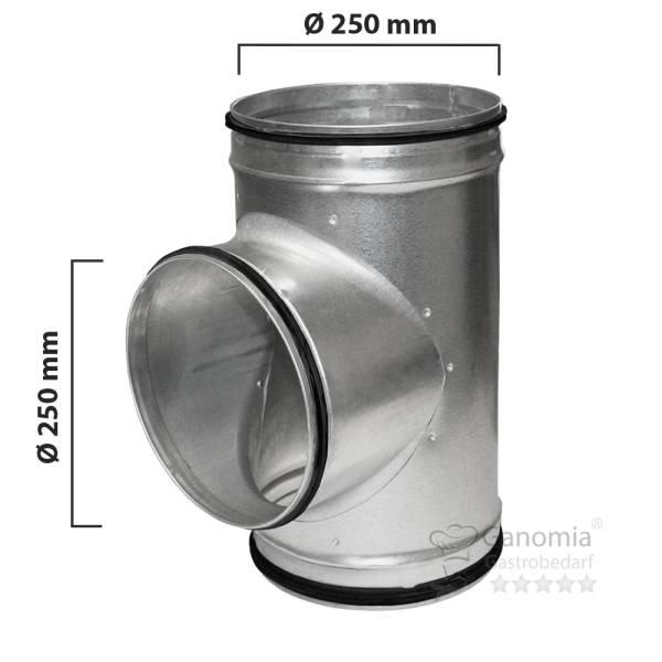T Stück Lüftung mit 250 mm Durchmesser und Gummilippen