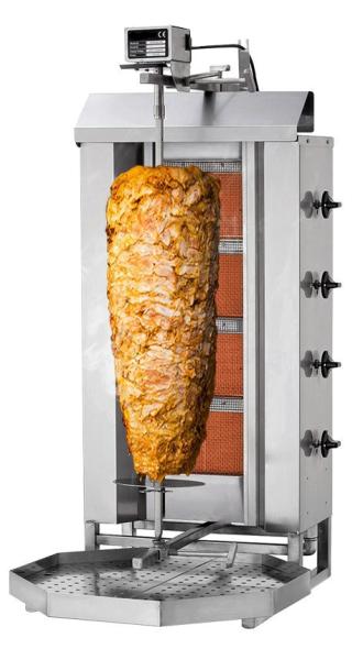 Dönergrill Gas 4 Brenner Propan / Erdgas Bis 60 Kg Fleisch