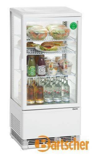 Bartscher Kühlschrank Mini-Kühlvitrine 78L, weiß