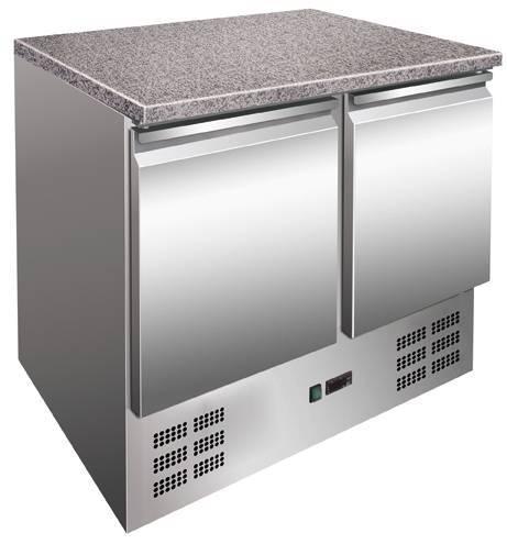 Kühltisch 2 Türen mit Granitarbeitsplatte