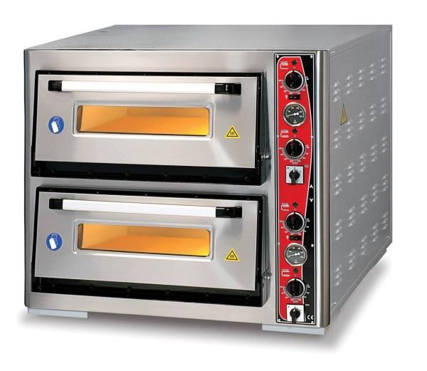 Pizzaofen Doppelkammer 12x Ø 30 cm Thermometer