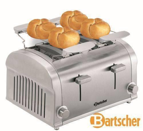 Bartscher Toaster Gastro 4 Scheiben aus Edelstahl