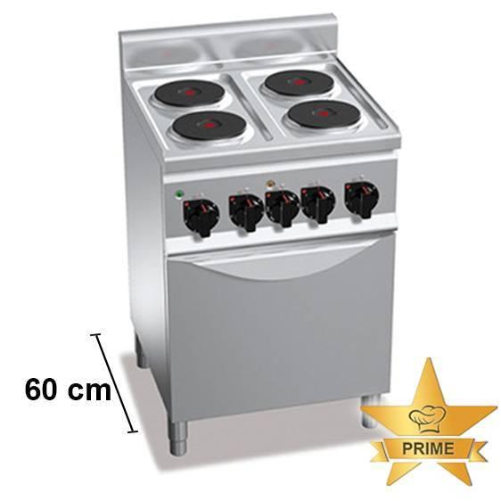 Gastro Elektroherd mit 4 Kochfelder mit Backofen