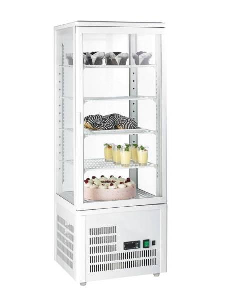 Gastro Kühlvitrine Glastür 98 Liter