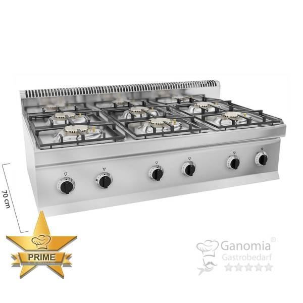 Gasherd Tischgerät 6 Brenner 33,5 kW