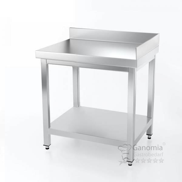 Gastro Arbeitstisch für Ecken mit Aufkantung