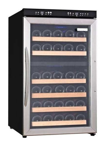 Gastro Weinkühlschrank aus Edelstahl Umluftkühlung für 34 Flaschen